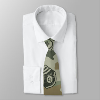 Military badges tie