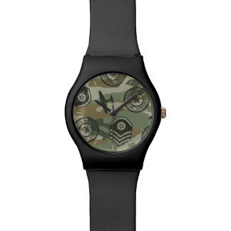 Military badges watch