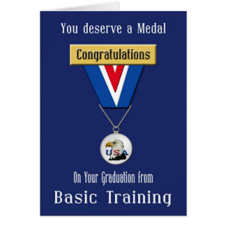 Military Basic Training Congratulations Card