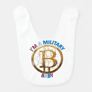 Military Bitcoin Baby Apparel Bib