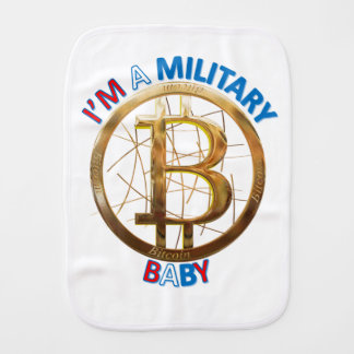 Military Bitcoin Baby Apparel Burp Cloth