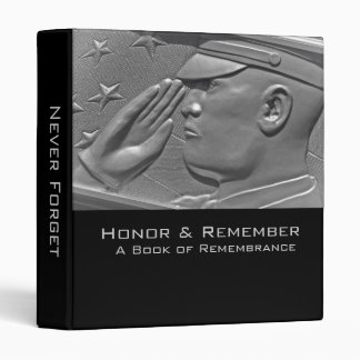 Military Book of Remembrance 3 Ring Binders