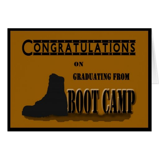 Military Boot Camp Graduation Card