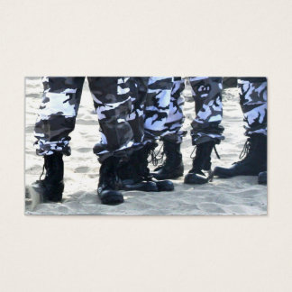 Military boots business cards