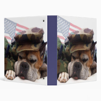 Military boxer dog binder