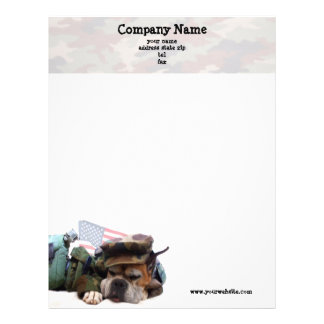 Military Boxer Dog Letterhead