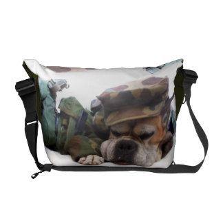 Military Boxer dog Rickshaw Zero Messenger Bag