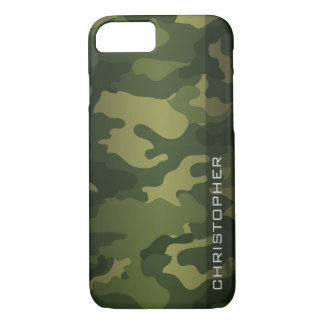 Military Camo Pattern Green with name iPhone 8/7 Case