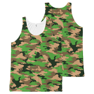 military camouflage All-Over-Print tank top