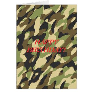 Military camouflage birthday card
