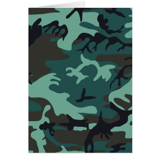 Military Camouflage Card