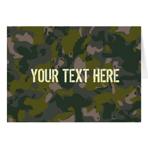 Military camouflage greeting cards
