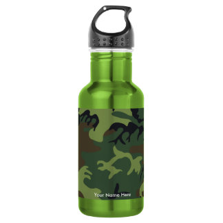 Military Camouflage Custom Water Bottle