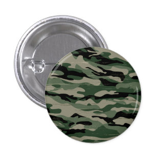 Military camouflage design 1 inch round button