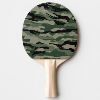 Military camouflage design ping pong paddle