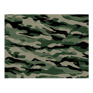 Military camouflage design postcard