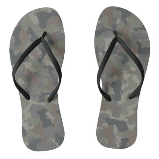 Military Camouflage Flip Flops