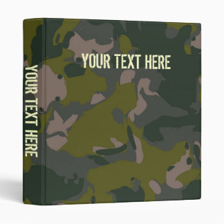 Military camouflage for army soldier Vietnam style 3 Ring Binders