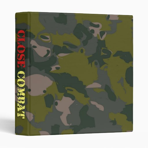 Military camouflage for soldier: close combat war binder