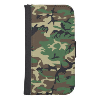 Military Camouflage Galaxy S4 Wallet Case