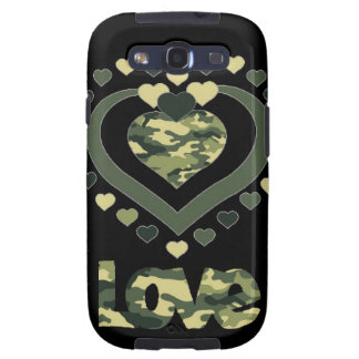 Military Camouflage Love hearts Samsung Galaxy SIII Case
