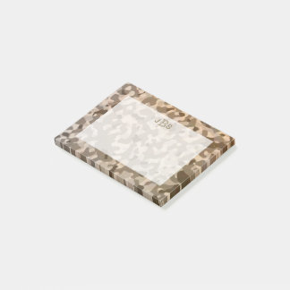 Military Camouflage Masculine Monogram Initials Post-it Notes