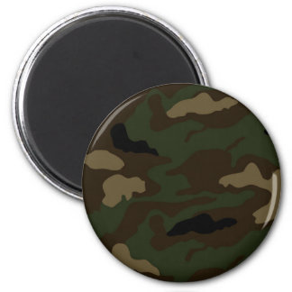 military camouflage pattern 2 inch round magnet