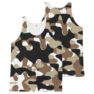 Military Camouflage Pattern All-Over-Print Tank Top