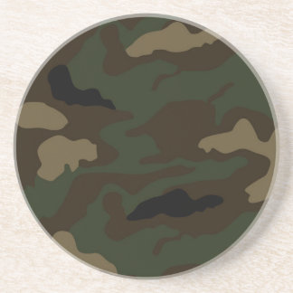 military camouflage pattern beverage coasters