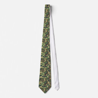 Military Camouflage Pattern - Brown Yellow Green Tie