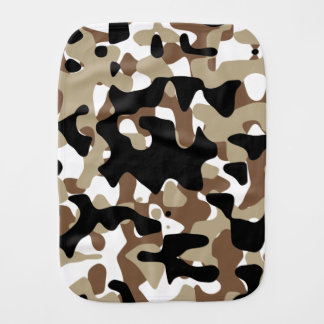 Military Camouflage Pattern Burp Cloth