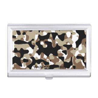Military Camouflage Pattern Business Card Holder