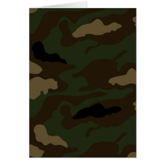 military camouflage pattern card