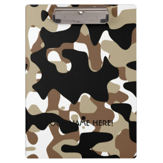 Military Camouflage Pattern Clipboard