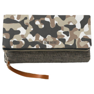 Military Camouflage Pattern Clutch