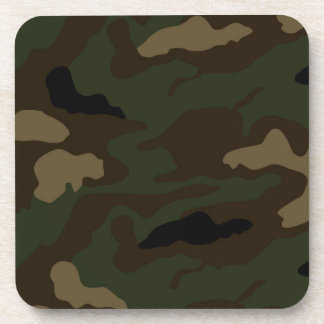 military camouflage pattern coasters