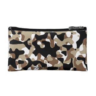 Military Camouflage Pattern Cosmetic Bag