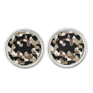 Military Camouflage Pattern Cuff Links