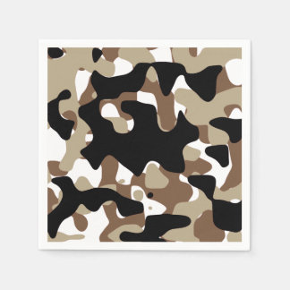 Military Camouflage Pattern Disposable Napkins