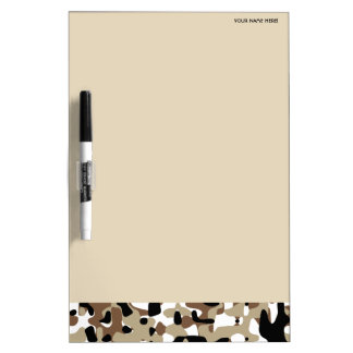 Military Camouflage Pattern Dry Erase Board