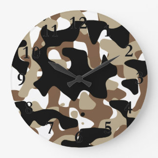 Military Camouflage Pattern Large Clock