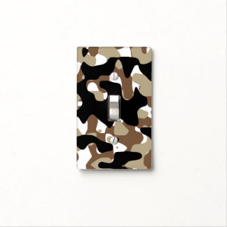 Military Camouflage Pattern Light Switch Cover