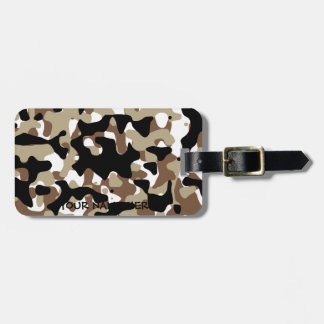 Military Camouflage Pattern Luggage Tag