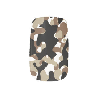 Military Camouflage Pattern Minx Nail Art