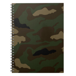 military camouflage pattern note books