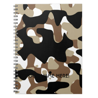 Military Camouflage Pattern Notebook