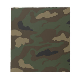 military camouflage pattern notepad