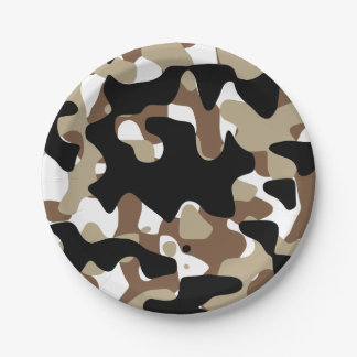 Military Camouflage Pattern Paper Plate