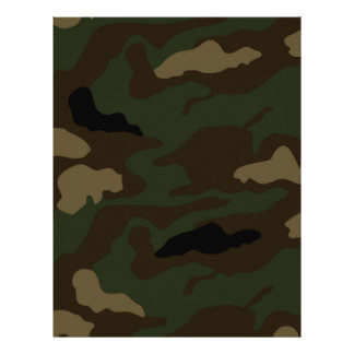 military camouflage pattern personalized letterhead