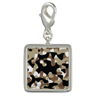 Military Camouflage Pattern Photo Charms